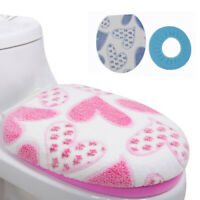 Practical Washable Soft Lid Top Cover+O Ring Mat Bathroom Warmer Toilet Seat Pad