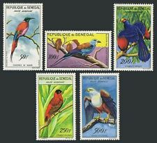 Senegal C26-30,lightly hinged. Bee-eater,Roller,Touraco,Red bishop.Fish eagle