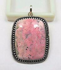 1d8e85251c32 25.1 G 925 Chapado en Plata de ley colgante de joyería de piedras preciosas  naturales Rhodonite