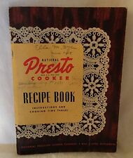 National Presto Pressure Cooker Recipe Book Instructions Cook Time Tables 1945