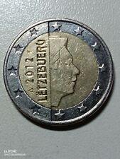 2 Euro Münze 2012 Luxemburg Letzebuerg -Fehlprägung-