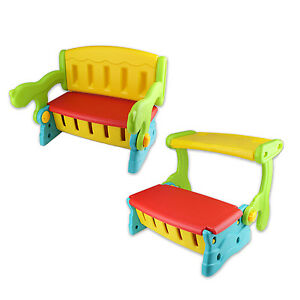 New  2 In 1 Plastic Kids Seat Chair Storage  Play