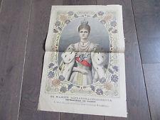 gravure originale ALEXANDRA FEODOROVNA 1900 RUSSIE RUSSE RUSSIAN