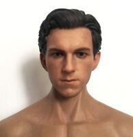 Custom 1/6 Head Sculpt Figure for Spider-Man Tom Holland fit HotToys Phicen Body