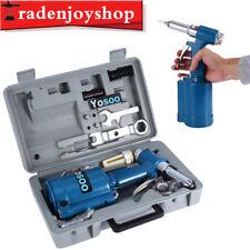 "1/4"" Air Pop Rivet Hydraulic Tool Riveter Gun Industrial Pneumatic Set 4.0cfm"