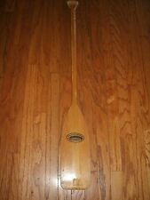 "Vintage 46"" FEATHER Brand Caviness Woodworking Canoe Paddle/ Oar Kayak-Raft"
