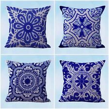 US Seller- 4pcs cushion covers Mexican Spanish talavera throw pillow covers