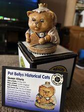 """Harmony Kingdom Pot Bellys """"Queen Kitoria"""" New In Box Nib Card 2001 Rare Pbhcvi"""