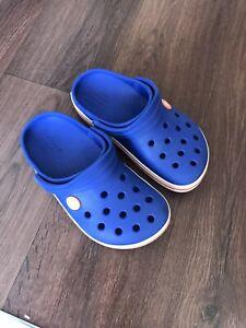 BOYS CROCS CROCBAND  BLUE SHOES SIZE C 12