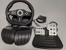 Playstation 2 Pelican Cobra TT Racing Steering Wheel Controller Pedal w/ 2 Legs