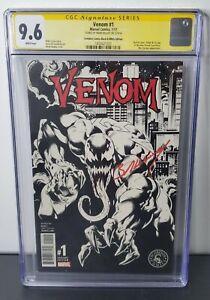 Venom #1 CGC 9.6 SS | Signed by Mark Bagley | Marvel 2016 | Black and White Var