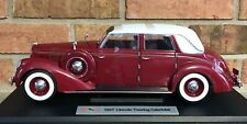 1937 Lincoln Touring Cabriolet Diecast Metal Car Signature Models 1:18