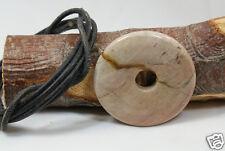 """Donut Anhänger JASPIS """"HIDDEN VALLEY"""", ca.40 mm, Lederband, PI-Scheibe, PI-Stein"""
