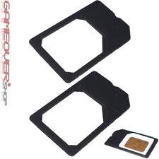 2x MicroSim Adapter Halter Slim Halterung Set für Handy Karten Card Micro Sim