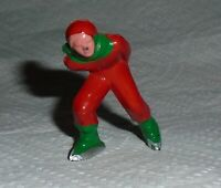 "VINTAGE Barclay Lead ""Man Speed Skater, In Red, Green Trim"" B180 Near Mint F/S G"