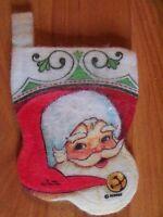 "Santa 5"" Christmas Stocking Gift Card Holder Vintage U Pick NOT a LOT"