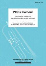 Plaisir d´amour  Noten Blechbläserquintett kleine Blasmusik, variabel Brass-5tet