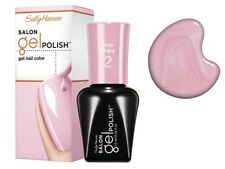 SALLY HANSEN Salon GEL NAIL POLISH Step 2 ROSEY CHEEKS Iridescent GLITTER Pink