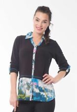 Rayon 3/4 Sleeve Collared Tops for Women
