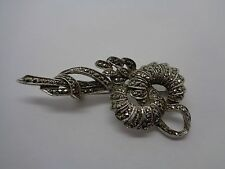 VINTAGE MARCASITE BROOCH WEDDING PARTY PROM FESTIVAL