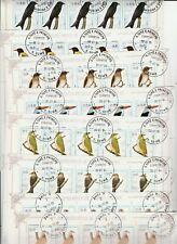9 Kleinbögen Vögel S.Tome E.Principe gestempelt 58 sehr hoher Katalogwert