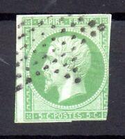 France 1853 5c green (Napoleon) imper fine used WS16880