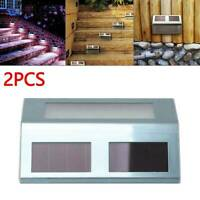 2x Super Bright Solar Powered Door Fence Wall Lights Led Outdoor Garden Lighting