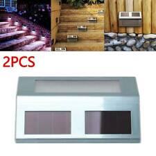 2x Super Bright Solar Powered Door Fence Wall Lights Led Outdoor Garden Lighting