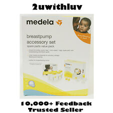 MEDELA BREASTPUMP ACCESSORY SET WITH BOTTLES, SPARE PARTS, MICRO STEAM BAGS ETC