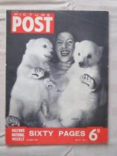 """PICTURE POST - 29 MARCH 1952 - GERMANY'S BRUMAS TWINS' COME OUT """"POLAR BEARS"""""""