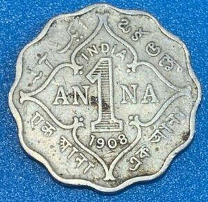 1908 British India 1 Anna - Edward VII Coin