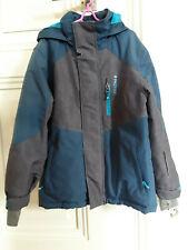Skijacke,Winterjacke,Jacke,blau,grau,128,8 Jahre,warm,Kapuze,Taschen,PROTEST