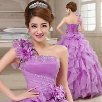 New Women Wedding Gown Quinceanera Dress Formal Pageant Ball Gown Bridal Dress