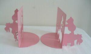 Michael Graves Pink Winnie Pooh Metal Silhouette Cut Bookends, Disney Moller