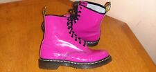 Dr martens 1460 Pink  Patent Leather 8 Hole Size us 10 ( FREE SHIPPING )