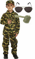 Army Boys Soldier Military Fancy Dress Costume Outfit Shades Dog Tag 4-12
