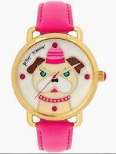 NWT GENUINE Betsey Johnson NWT $75 Pink Puppy Dog Watch Box