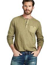 Lucky Brand - Men's XXL - NWT $59 - Olive Green 100% Cotton Henley Pocket Shirt