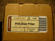 Longaberger Pint Size Pillar Candle - Cinnamon stick - New In Box