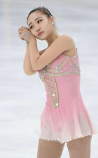Figure Skating Competition Dress Ice Skating Training Dress Girl Costume Pink