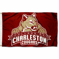 College of Charleston Cougars Flag Cofc Large 3x5
