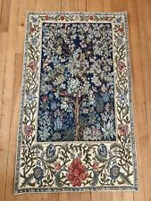 GORGEOUS 113 X 70 Flemish Tapestry WILLIAM MORRIS Tree of Life ~ Excellent