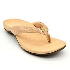Vionic Womens Jen Patent Thong Sandals Sz 8 Nude New