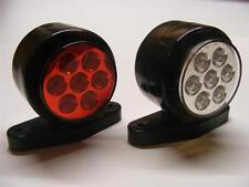 2x LED SIDE OUTLINE MARKER 12/24V RED/WHITE LIGHT E-MARKED TRAILER LORRY TRUCK