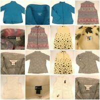 Lot 5 Size Medium Fleece Outer Vests And Jacket Fall Spring Warm Fleece Bundle