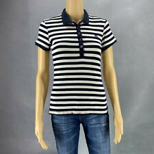Burberry Brit Women Polo Top Shirt Collared Striped Buttons Sz XL Stretch
