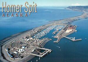 Homer Spit Alaska & Kachemak Bay, Kenai Peninsula AK, Boat Harbor --- Postcard