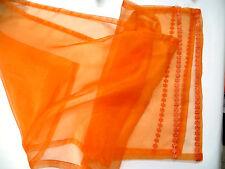 Organza mesa alfil Orange, 40 x 180 cm
