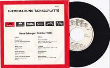 "NEUE SCHLAGER 1966 - (Tony Sheridan, Renate Kern...) 7"" 45  Promo"