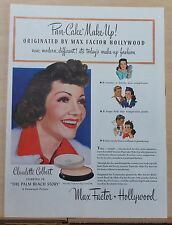 1942  magazine ad for Max Factor make-up - Claudette Colbert of Palm Beach Story